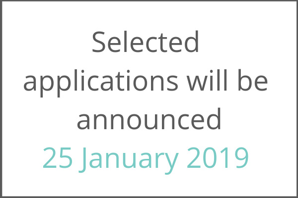 applications are closed. selected applications will be notified 25 january