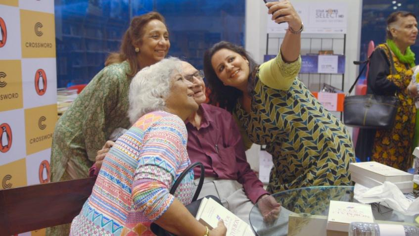 three women of different ages taking a selfie with the sexpert