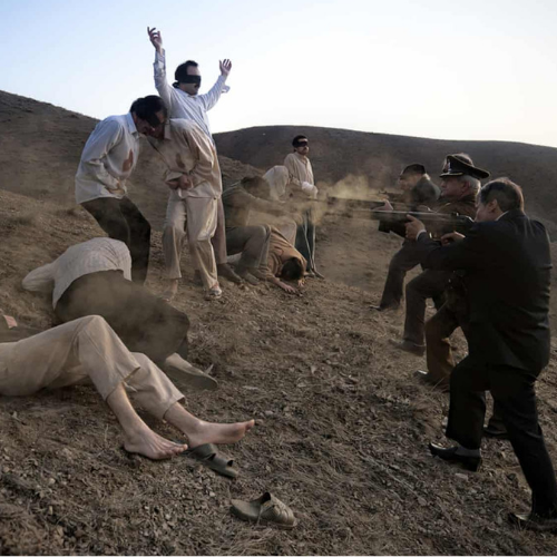 sample image from by an eyewitness of man being execute by firing squad